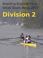 Reading Rowing Club Small Boats Head 2011-Div 2