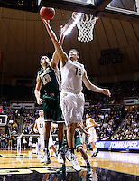 WEST LAFAYETTE, IN - DECEMBER 29: Donnie Hale #15 of the Purdue Boilermakers shoots the ball as Kyle Gaillard #23 of the William &amp; Mary Tribe defends at Mackey Arena on December 29, 2012 in West Lafayette, Indiana. Purdue defeated William &amp; Mary 73-66. (Photo by Michael Hickey/Getty Images) *** Local Caption *** Donnie Hale; Kyle Gaillard