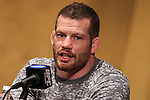 March 16, 2011; New York, NY; USA; Nate Marquardt at the final press conference for UFC 128.  The card will take place on Saturday March 19, 2011, at the Prudential Center in Newark, NJ.