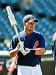 5 September 2009: Cleveland Indians' third baseman Jhonny Peralta awaits his turn in the batting cage prior to facing the Minnesota Twins at Progressive Field in Cleveland, Ohio. The Indians fell to the Twins 4-1 in the second game of their three-game weekend series. Mandatory Credit: Ed Wolfstein Photo