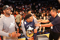 BROOKLYN, NEW YORK - JULY 21, 2016 CC Sabathia, Robinson Cano & Alex Rodriguez attend the Roc Nation Summer Classic Charity Basketball Game July 21, 2016 at The Barclays Center in Brooklyn, New York. Photo Credit: Walik Goshorn / Media Punch