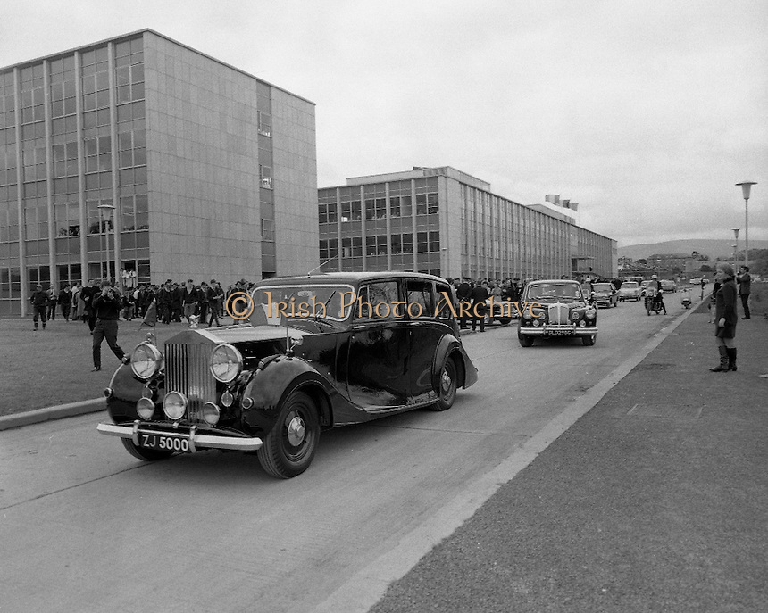 Belgian Royal Visit - King Baudouin and Queen Fabiola of Belgium visit University College Dublin..15.05.1968