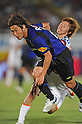 Akira Kaji (Gamba), Naoki Ishihara (Ardija), SEPTEMBER 10, 2011 - Football / Soccer : 2011 J.League Division 1 match between Gamba Osaka 2-0 Omiya Ardija at Expo '70 Stadium in Osaka, Japan. (Photo by AFLO)