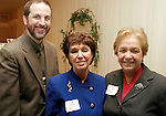 NAUGATUCK, CT-03 FEBRUARY 2004 -020305JS06- Gary Steck, Executive Director of the Child Guidance Clinic of Greater Waterbury, Inc., Peggy Panagrossi of Safe Haven and Joan Pesce of the Morris Foundation at the United Way's annual meeting and awards ceremony held Thursday at Leary's Crystal Room in Naugatuck.--UUnited Way of Naugatuck & Beacon Falls; Gary Steck; Child Guidance Clinic of Greater Waterbury; Inc., Peggy Panagrossi, Safe Haven, Joan Pesce, Morris Foundation-Jim Shannon Photo