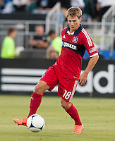 Santa Clara, California - Saturday July 28, 2012: Chicago Fire's Chris Rolfe in action during a game against San Jose Earthquakes at Buck Shaw Stadium, Stanford, Ca    San Jose Earthquakes and Chicago Fire tied 0 - 0