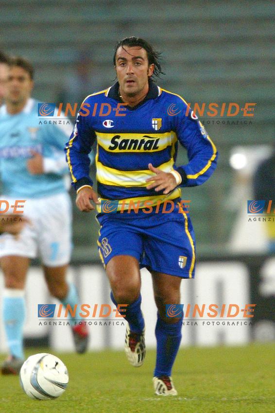 Roma 14/1/2004 - Coppa Italia<br /> Lazio Parma 2-0<br /> Simone Barone (Parma)<br /> Foto Andrea Staccioli Insidefoto