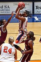 SAN ANTONIO, TX - NOVEMEBR 9, 2007: The Huston-Tillotson University Rams vs. The University of Texas at San Antonio Roadrunners Women's Basketball at the UTSA Convocation Center. (Photo by Jeff Huehn)