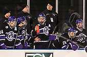 Adam Schmidt (HC - 14), Bobby Pearl, Paul Pearl (HC - Head Coach), Shayne Stockton (HC - 27), Nick Finn (HC - 26) - The Bentley University Falcons defeated the College of the Holy Cross Crusaders 3-2 on Saturday, December 28, 2013, at Fenway Park in Boston, Massachusetts.