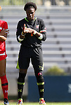 23 October 2011: Maryland's Yewande Balogun. The Duke University Blue Devils defeated the University of Maryland Terrapins 3-1 at Koskinen Stadium in Durham, North Carolina in an NCAA Division I Women's Soccer game.