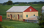 A collection of Barns that still can be seen while traveling the countryside in  the beautiful State of Wisconsin.<br /> Thomas Barn, Hwy 151 between Barneveld and Mt Horeb.