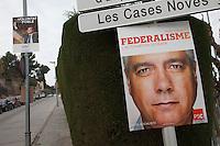 Spagna Barcellona  Elezioni all'assemblea catalana 25 Novembre 2012 manifesti elettorali
