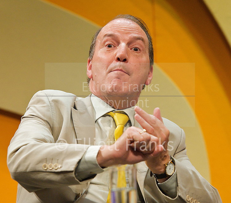 Liberal Democrats<br /> Autumn Conference 2011 <br /> at the ICC, Birmingham, Great Britain <br /> <br /> 17th to 21st September 2011 <br /> <br /> The Right Honourable<br /> Simon Hughes <br /> MP<br /> Deputy Leader of the Liberal Democrats<br /> <br /> Photograph by Elliott Franks
