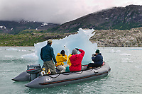 Tourists & icebergs, Nellie Juan lagoon, Western Prince William Sound, Alaska