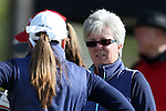 15 April 2016: Notre Dame's coach Susan Holt. The First Round of the Atlantic Coast Conference's Womens Golf Tournament was held at Sedgefield Country Club in Greensboro, North Carolina.