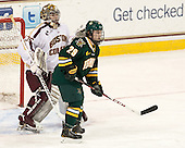 Parker Milner (BC - 35), Robert Polesello (UVM - 29) - The Boston College Eagles defeated the University of Vermont Catamounts 4-1 on Friday, February 1, 2013, at Kelley Rink in Conte Forum in Chestnut Hill, Massachusetts.