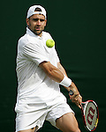 Tennis All England Championships Wimbledon Nicolas Kiefer (GER) spielt eine Rueckhand.