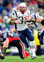20 December 2009: New England Patriots' running back Kevin Faulk rushes for 7 yards in the second quarter against the Buffalo Bills at Ralph Wilson Stadium in Orchard Park, New York. The Patriots defeated the Bills 17-10. Mandatory Credit: Ed Wolfstein Photo