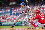 28 July 2013: New York Mets first baseman Ike Davis in action against the Washington Nationals at Nationals Park in Washington, DC. The Nationals defeated the Mets 14-1. Mandatory Credit: Ed Wolfstein Photo *** RAW (NEF) Image File Available ***