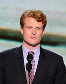 Joseph P. Kennedy III, candidate for the United States House of Representatives from Massachusetts, makes remarks at the 2012 Democratic National Convention in Charlotte, North Carolina on Tuesday, September 4, 2012.  .Credit: Ron Sachs / CNP.(RESTRICTION: NO New York or New Jersey Newspapers or newspapers within a 75 mile radius of New York City)