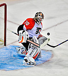 18 December 2008: Philadelphia Flyers' goaltender Antero Niittymaki from Finland makes a first period save against the Montreal Canadiens at the Bell Centre in Montreal, Quebec, Canada. The Canadiens look to avoid a four-game slide, while the Flyers seek their sixth win in a row. The Canadiens defeated the Flyers 5-2. ***** Editorial Sales Only ***** Mandatory Photo Credit: Ed Wolfstein Photo
