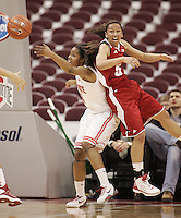 Ohio State's Tayler Hill (24) and Wisconsin's Morgan Paige (5) collide during their NCAA basketball game Thursday, Feb. 7, 2013, in Columbus Ohio. (Photo for the Dispatch by Mike Munden)