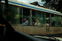 Near Ou Tai, north Laos, August 13, 2007.Many Chinese come to Laos for business, often very basic such as bamboo shoots export to China. They come in this remote area by the busload...