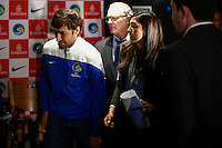Spanish soccer player Raul Gonzalez attends a media event with members of the New York Cosmos team in Manhattan, New York 24.03.2015. Eduardo Munoz Alvarez/VIEWpress.