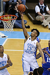 07 March 2015: North Carolina's J.P. Tokoto. The University of North Carolina Tar Heels played the Duke University Blue Devils in an NCAA Division I Men's basketball game at the Dean E. Smith Center in Chapel Hill, North Carolina. Duke won the game 84-77.