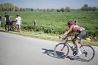 Jens Debusschere (BEL/Lotto-Soudal) chasing<br /> <br /> 115th Paris-Roubaix 2017 (1.UWT)<br /> One Day Race: Compi&egrave;gne &rsaquo; Roubaix (257km)