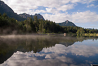 Dolomiti, Voels am Schlern, South Tyrol, June 2007. Voelser Weiher Lake.  Seiser Alm in the Dolomiti is the largest Alpine pasture in the alps.  South Tyrol used to be part of Austria until it became part of Italy after WWI. Photo by Frits Meyst/Adenture4ever.com