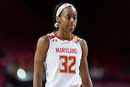 College Park, MD - DEC 6, 2016: Maryland Terrapins guard Shatori Walker-Kimbrough (32) in action during game between Towson and Maryland at XFINITY Center in College Park, MD. The Terps defeated the Tigers 97-63. (Photo by Phil Peters/Media Images International)