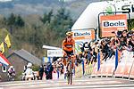 Elizabeth Deignan (GBR) Boels Dolmans Cyclingteam finishes in 2nd place behind her team mate at the end of La Fleche Wallonne Femme 2017, Huy, Belgium. 19 April 2017. Photo by Thomas van Bracht / PelotonPhotos.com