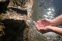 Abruzzo, Italy, June 2008. clean drinking water at a mountain spring. Photo by Frits Meyst/Adventure4ever.com