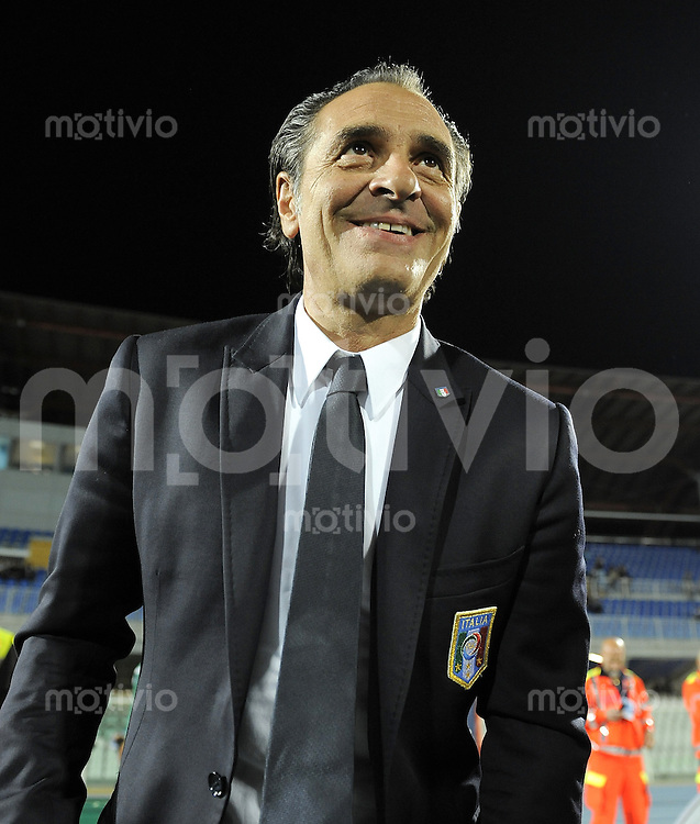 FUSSBALL INTERNATIONAL  Qualifikation Euro 2012  11.10.2011 Italien - Nordirland Trainer Cesare PRANDELLI (Italien)