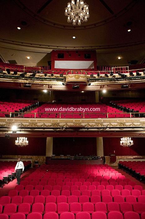 13 February 2006 - New York City, NY - View of auditorium at the Apollo theater in Harlem, New York City, USA, 13 February 2006. The famous theater, home of the Amateur Nights at The Apollo, is reopening with a renovated faade and new seats.