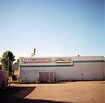 A vacant lot behind the Safari Club in downtown Estacada, Oregon