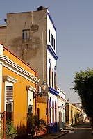 Restored nineteenth century buildings in old Mazatlan, Sinaloa, Mexico