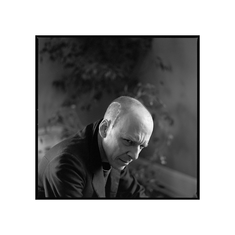 "Peter Eichenberger, Writer, Raleigh, North Carolina, 2006 | D.L. Anderson | $600 | Limited Edition 1 of 5 | Print - 34x34"" Crane Museo Silver Rag Archival Inkjet 