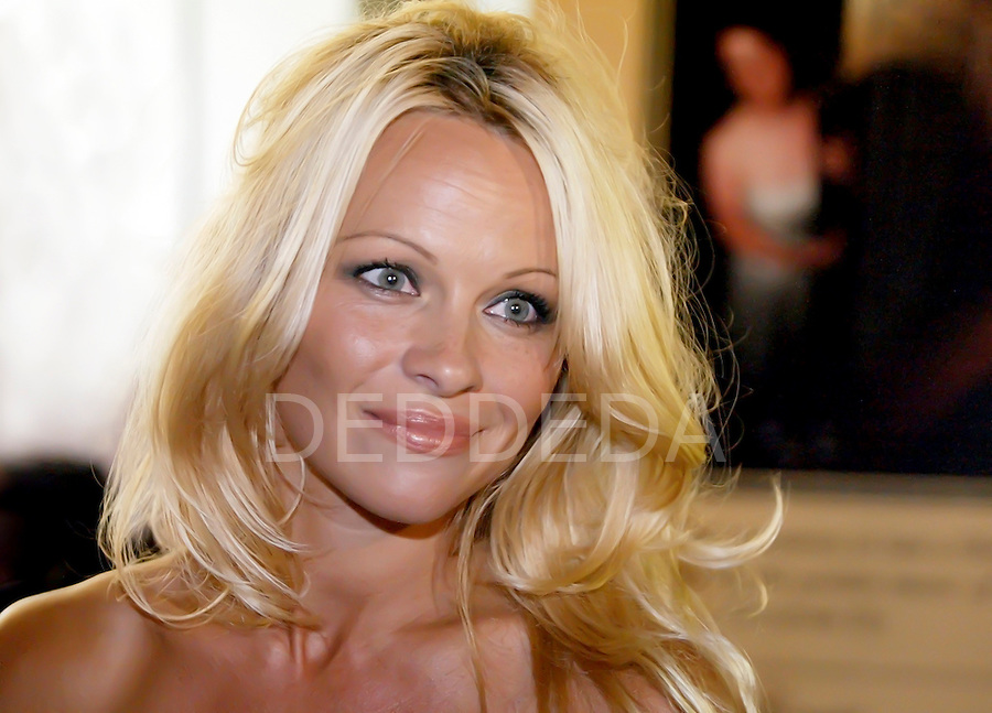Canadian actress and celebrity, Pamela Anderson, at the Fairmont Empress Hotel in Victoria, British Columbia, Canada. Photo assignment for the Victoria Times Colonist newspaper.