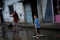 SYRIA - Al Qsair. Streets of Al Qseir on January 27, 2012. Al Qsair is a small town of 40000 inhabitants, located 25Km south-west of Homs. The town is besieged since the beginning of November and so far it counts 65 dead. ALESSIO ROMENZI