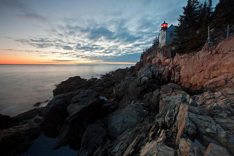 Bass Harbor Head Lighthouse at Acadia National Park, Maine, USA