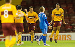 Motherwell v St Johnstone...10.11.10  .Nick Blackman celebrates his second goal.Picture by Graeme Hart..Copyright Perthshire Picture Agency.Tel: 01738 623350  Mobile: 07990 594431