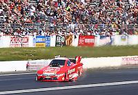 Jun 12, 2016; Englishtown, NJ, USA; NHRA funny car driver Cruz Pedregon during the Summernationals at Old Bridge Township Raceway Park. Mandatory Credit: Mark J. Rebilas-USA TODAY Sports