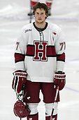 Lewis Zerter-Gossage (Harvard - 77) - The Harvard University Crimson defeated the St. Lawrence University Saints 6-3 (EN) to clinch the ECAC playoffs first seed and a share in the regular season championship on senior night, Saturday, February 25, 2017, at Bright-Landry Hockey Center in Boston, Massachusetts.