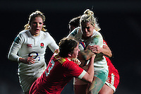 Rachael Burford of England takes on the Canada defence. Old Mutual Wealth Series International match between England Women and Canada Women on November 26, 2016 at Twickenham Stadium in London, England. Photo by: Patrick Khachfe / Onside Images
