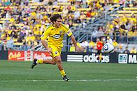 24 OCTOBER 2010:  Columbus Crew midfielder/forward Guillermo Barros Schelotto (7) during MLS soccer game against the Philadelphia Union at Crew Stadium in Columbus, Ohio on August 28, 2010.