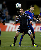 Alan Gordon of Earthquakes controls the ball during the game against Rapids at Buck Shaw Stadium in Santa Clara, California on May 18th, 2013.  San Jose Earthquakes tied Colorado Rapids, 1-1.