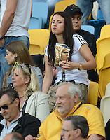 FUSSBALL  EUROPAMEISTERSCHAFT 2012   VORRUNDE Deutschland - Portugal          09.06.2012 Freundin von Marcel Schmelzer Anika