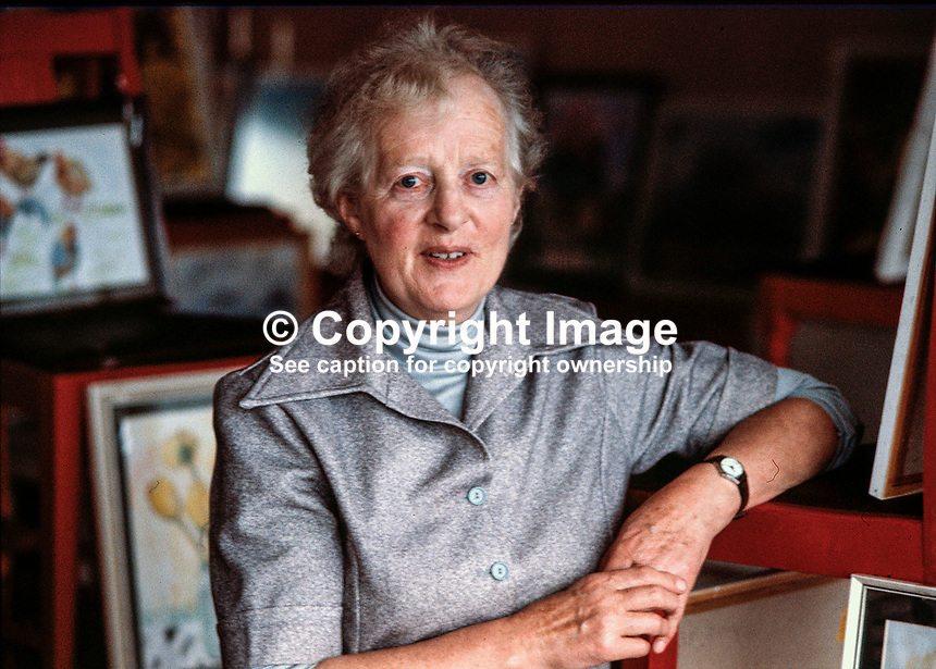 Brigid Gore-Booth, painter, artist, Sligo, Rep of Ireland, exhibition, Bundoran, Co Donegal, 74/79, 197908000074..Copyright Image from Victor Patterson, 54 Dorchester Park, Belfast, UK, BT9 6RJ..Tel: +44 28 9066 1296.Mob: +44 7802 353836.Voicemail +44 20 8816 7153.Skype: victorpattersonbelfast.Email: victorpatterson@mac.com.Email: victorpatterson@ireland.com (back-up)..IMPORTANT: If you wish to use this image or any other of my images please go to www.victorpatterson.com and click on the Terms & Conditions. Then contact me by email or phone with the reference number(s) of the image(s) concerned.