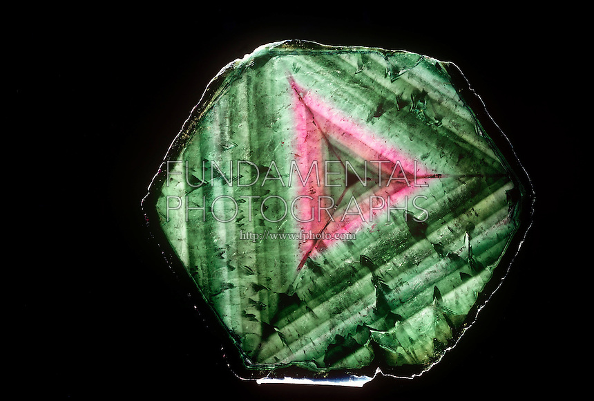 CRYSTAL AND CUT ZONED TOURMALINE<br />